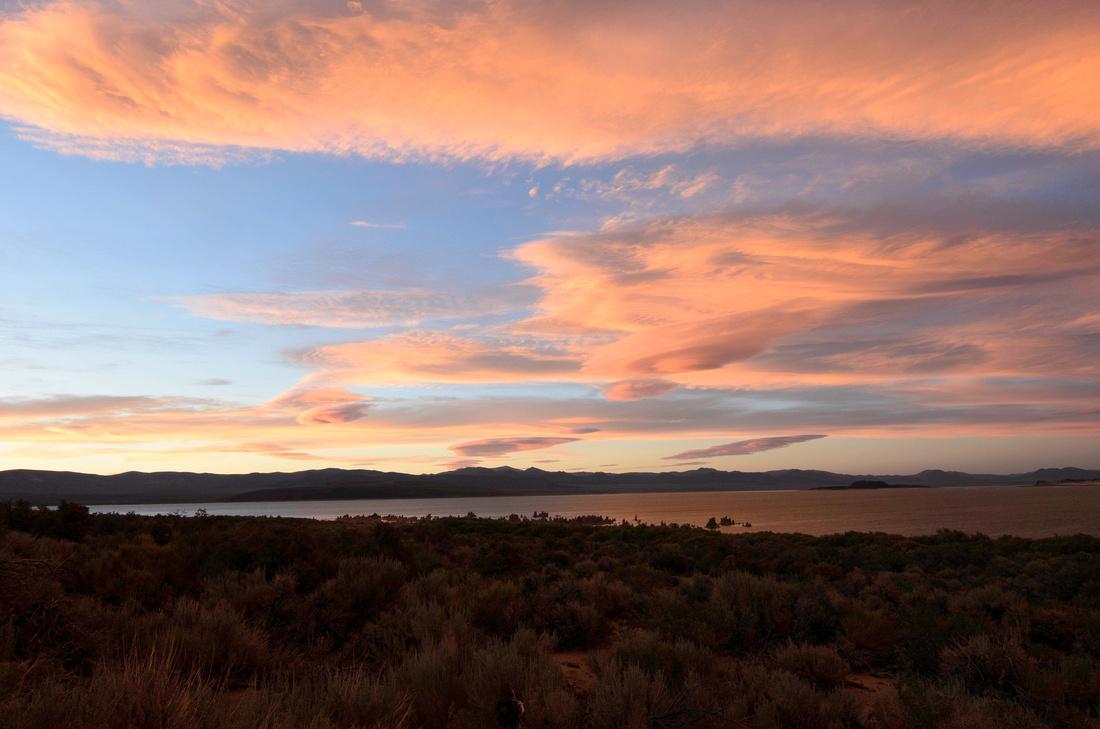Pastel Sunset on Mono Lake