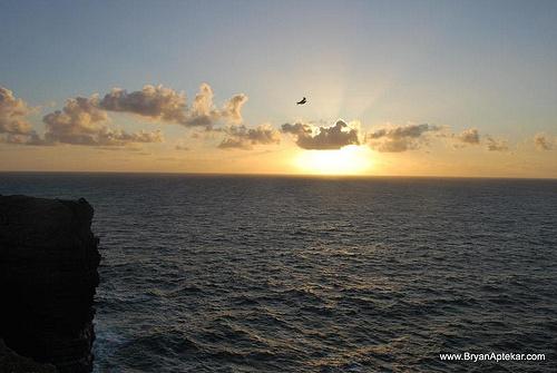 Sunset near Loop Head Lighthouse, west coast of Ireland